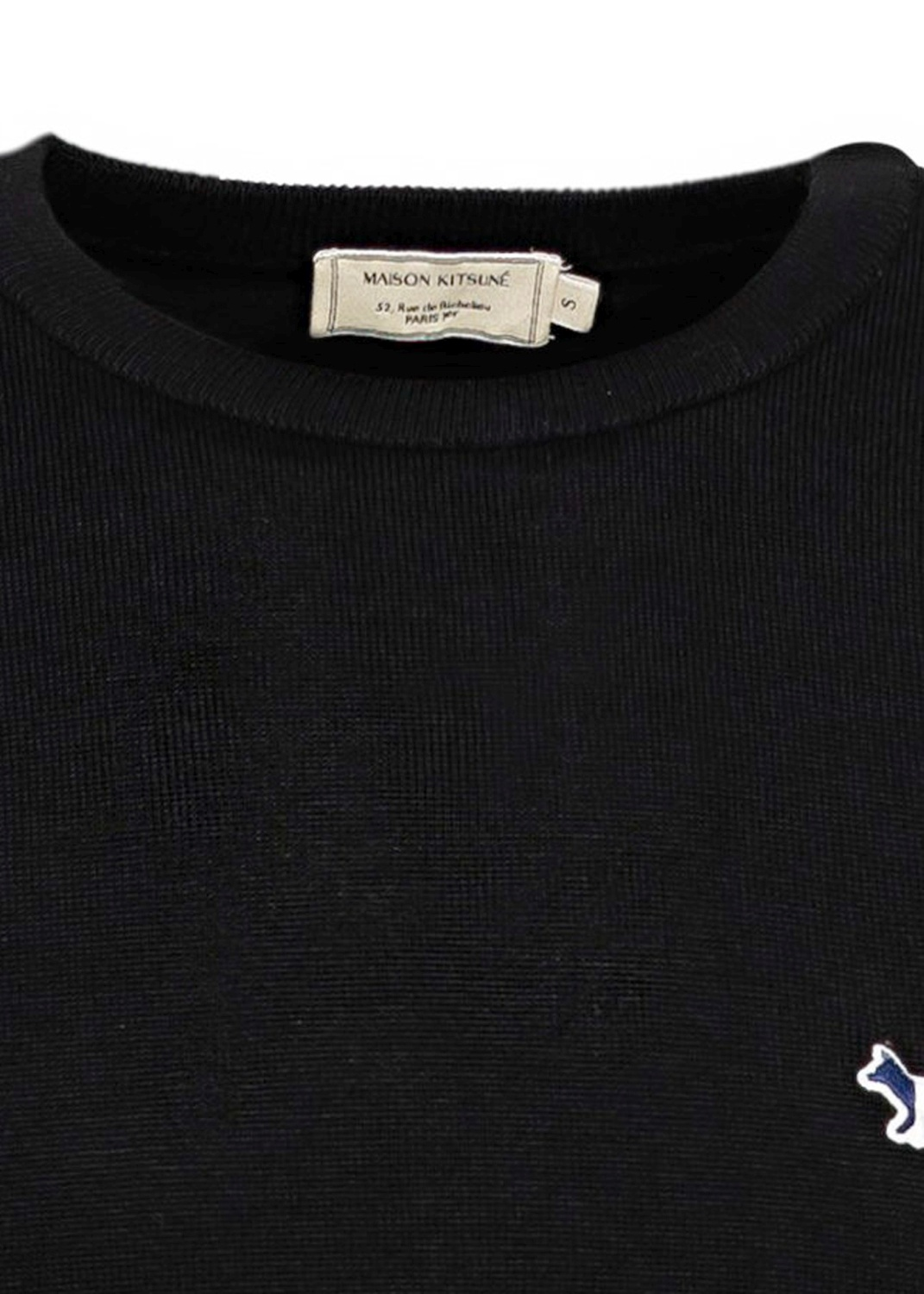 R-NECK PULLOVER TRICOLOR FOX PATCH image number 2