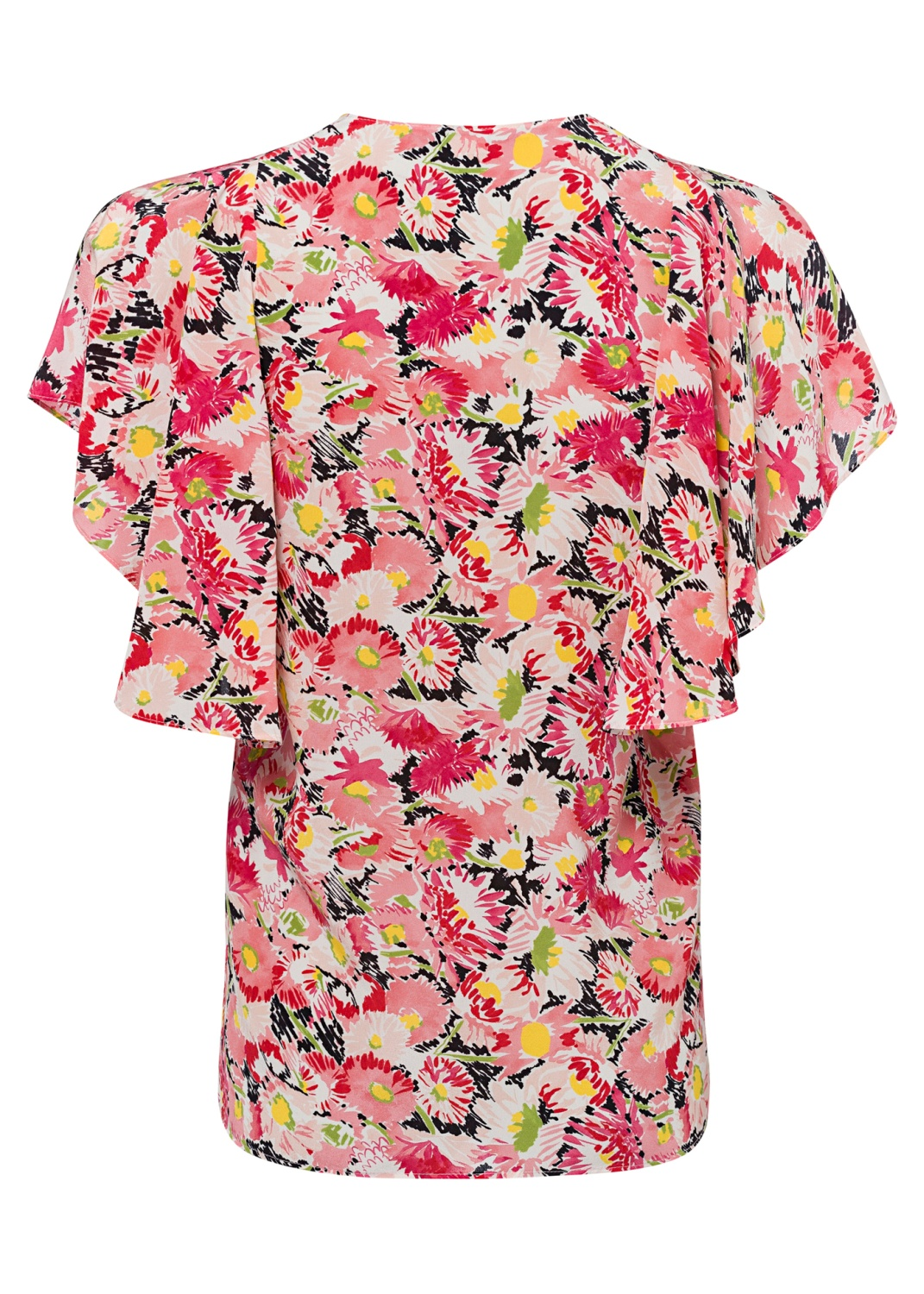 Mallory Top Watercolor Floral Silk Print image number 1
