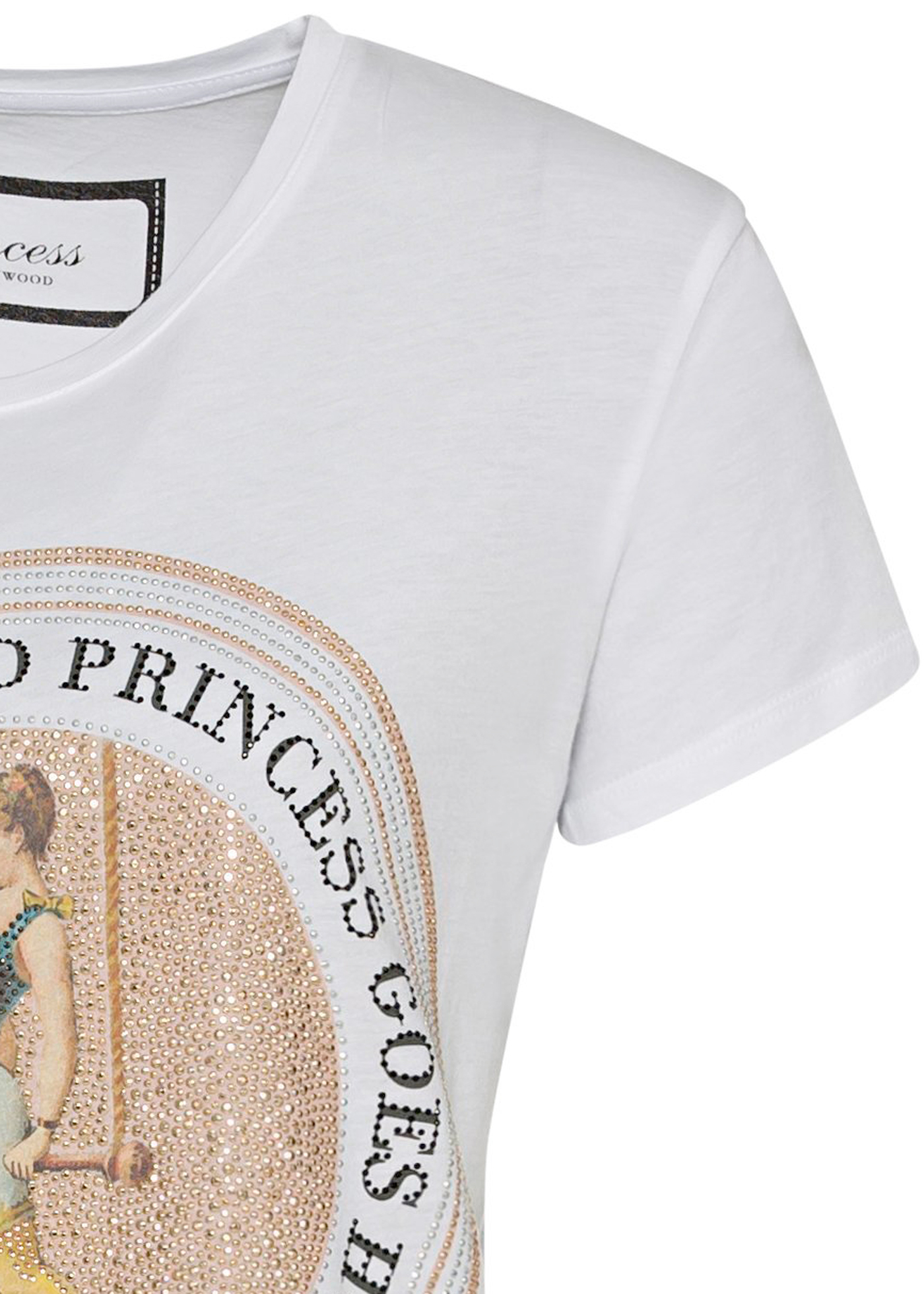 T-Shirt glitter circle tee image number 2