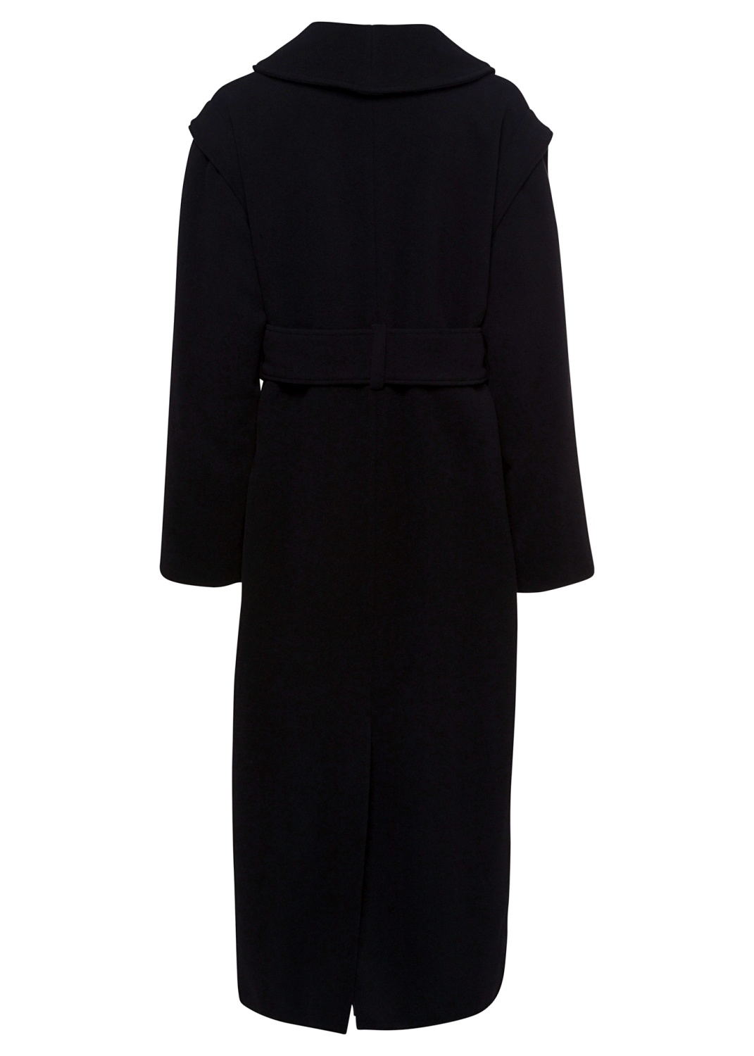 OVERSIZED COAT WITH LAPEL AND BELT image number 1
