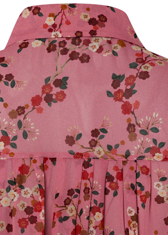 Bluse mit Kirschblüten-Print image number 3