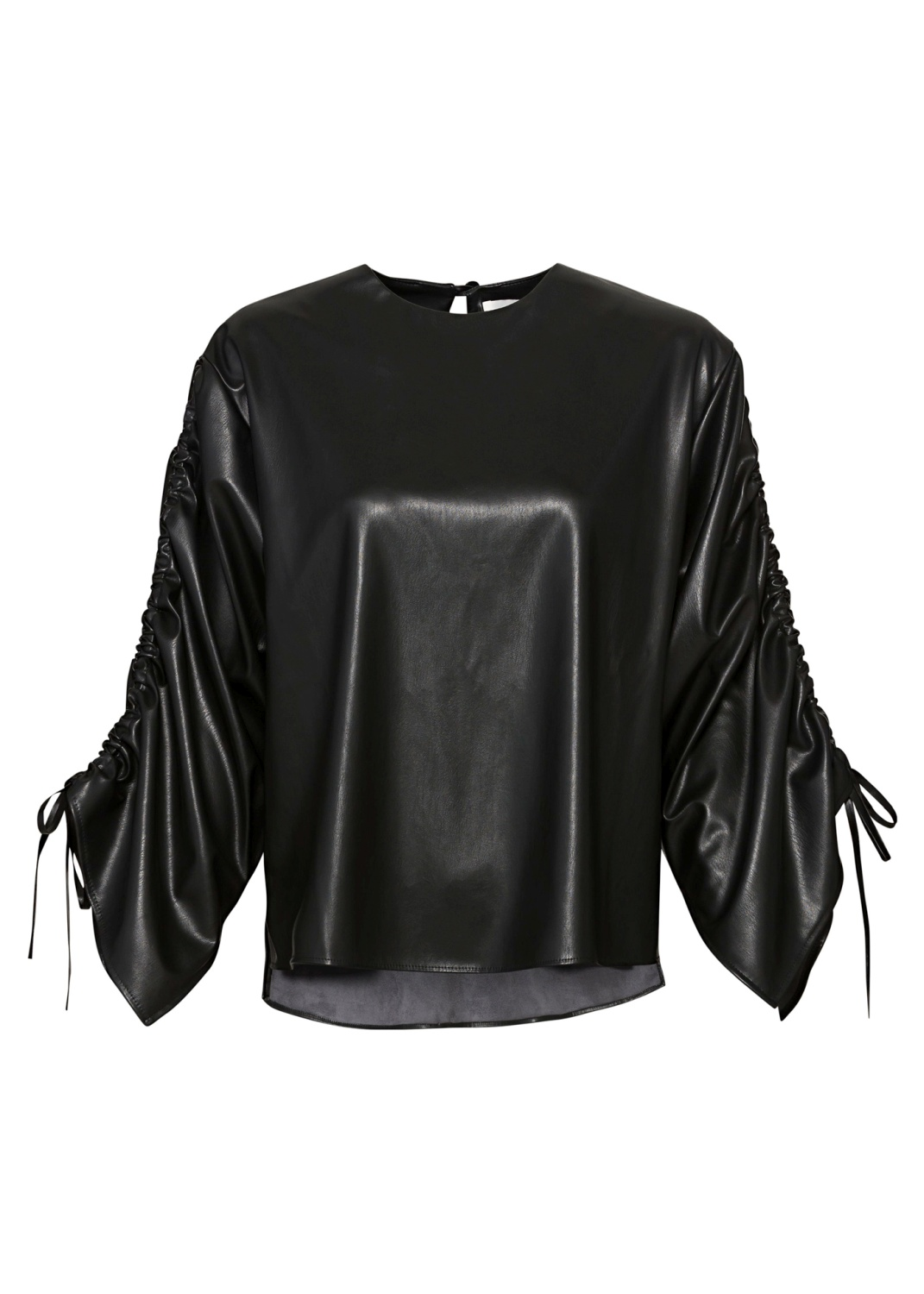 BLOUSE WITH STRINGS ON SLEEVES image number 0