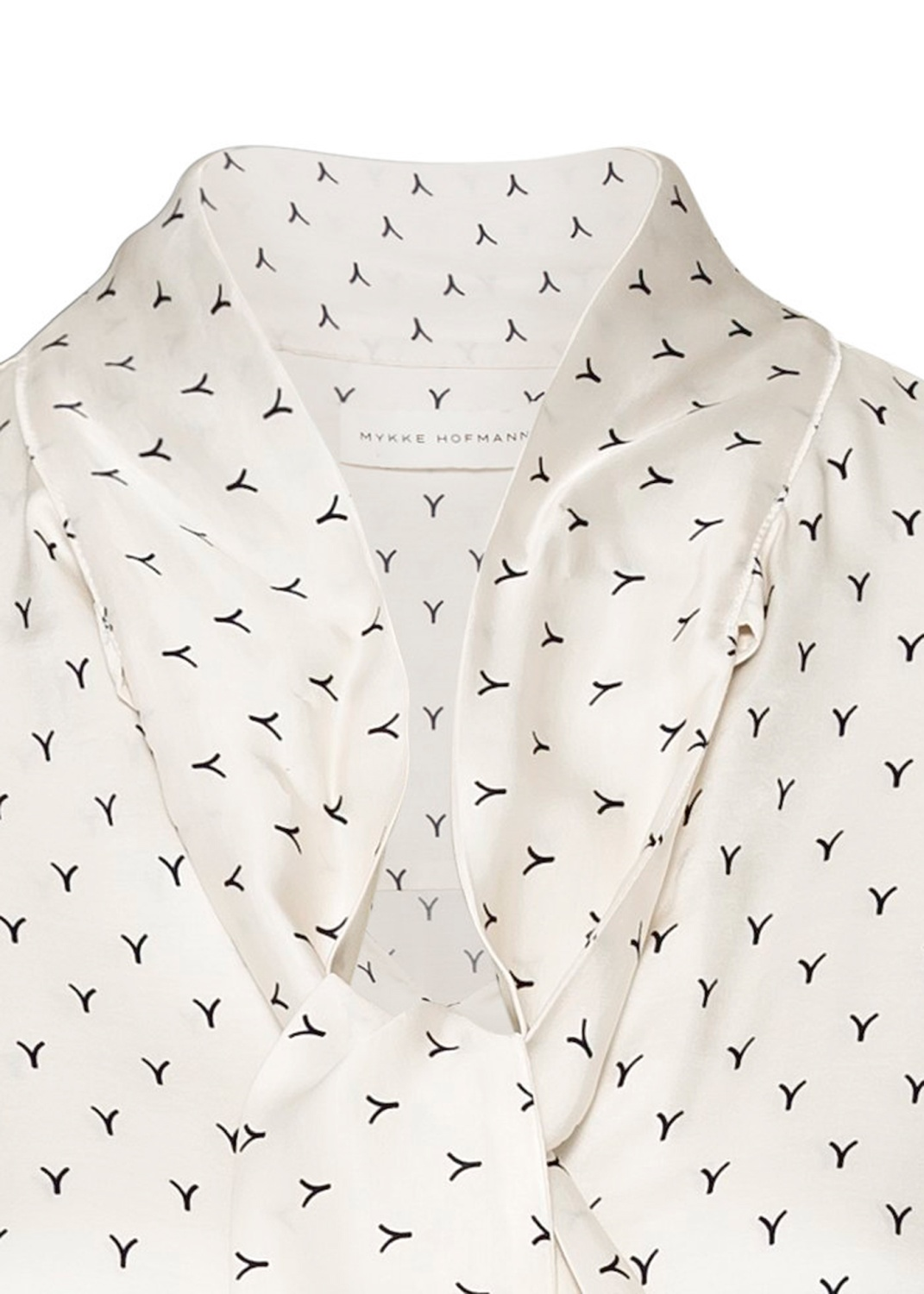BLOUSE WITH BOW AND VOLUME SLEEVES image number 2