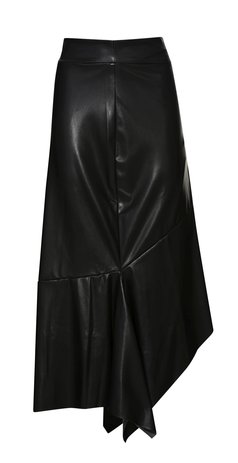 HIGH WAIST SKIRT WITH VOLANTS image number 0