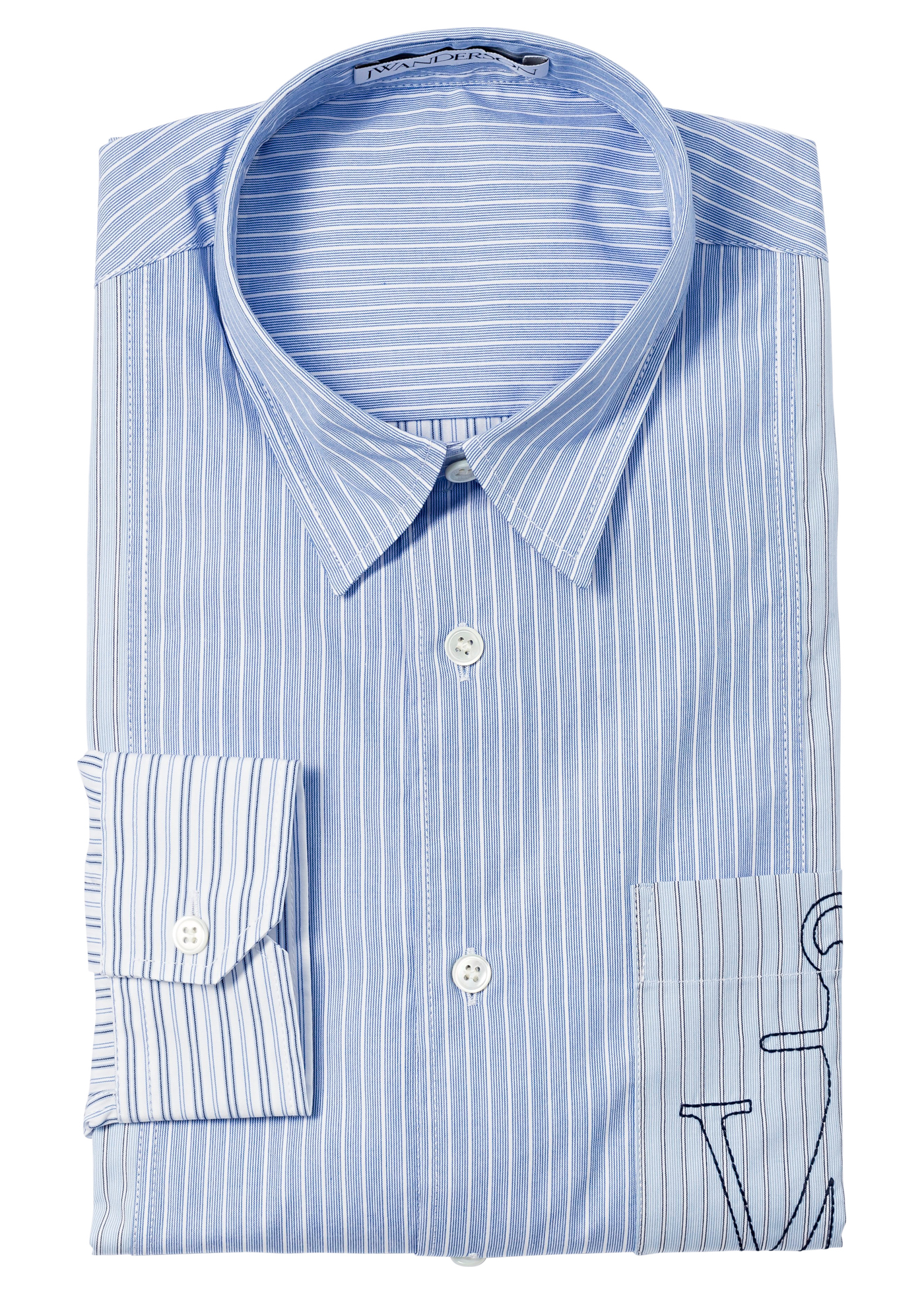 RELAXED STRIPE PATCHWORK SHIRT image number 0