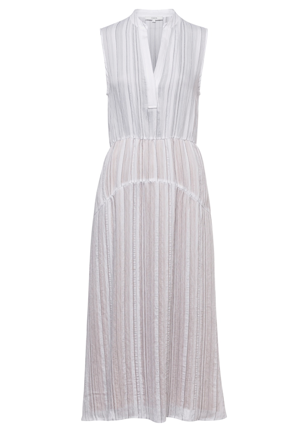 DRAPEY STRIPE TIERED DRESS image number 0