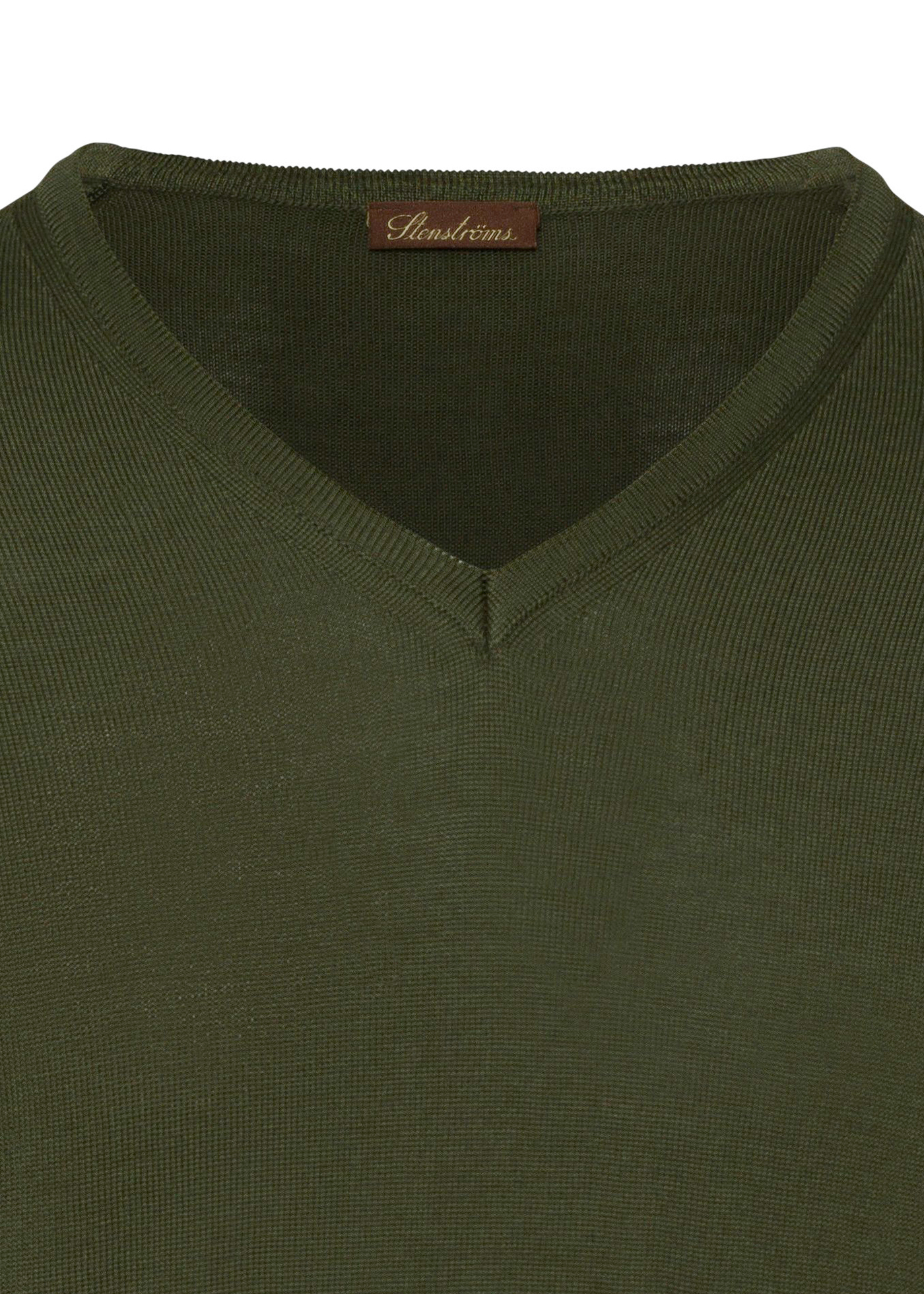 Merino V-neck w.Patch image number 2