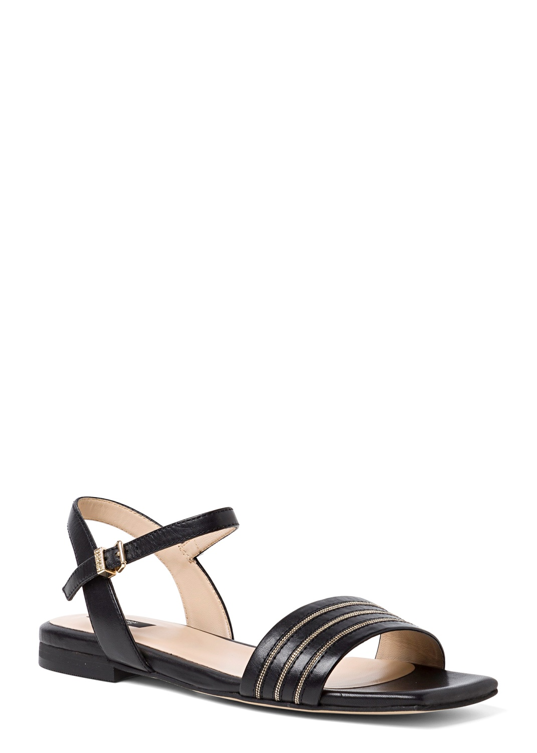 9_Flat Squared Chain Sandal image number 1