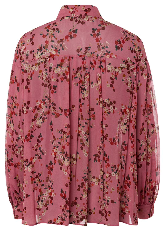 Bluse mit Kirschblüten-Print image number 1