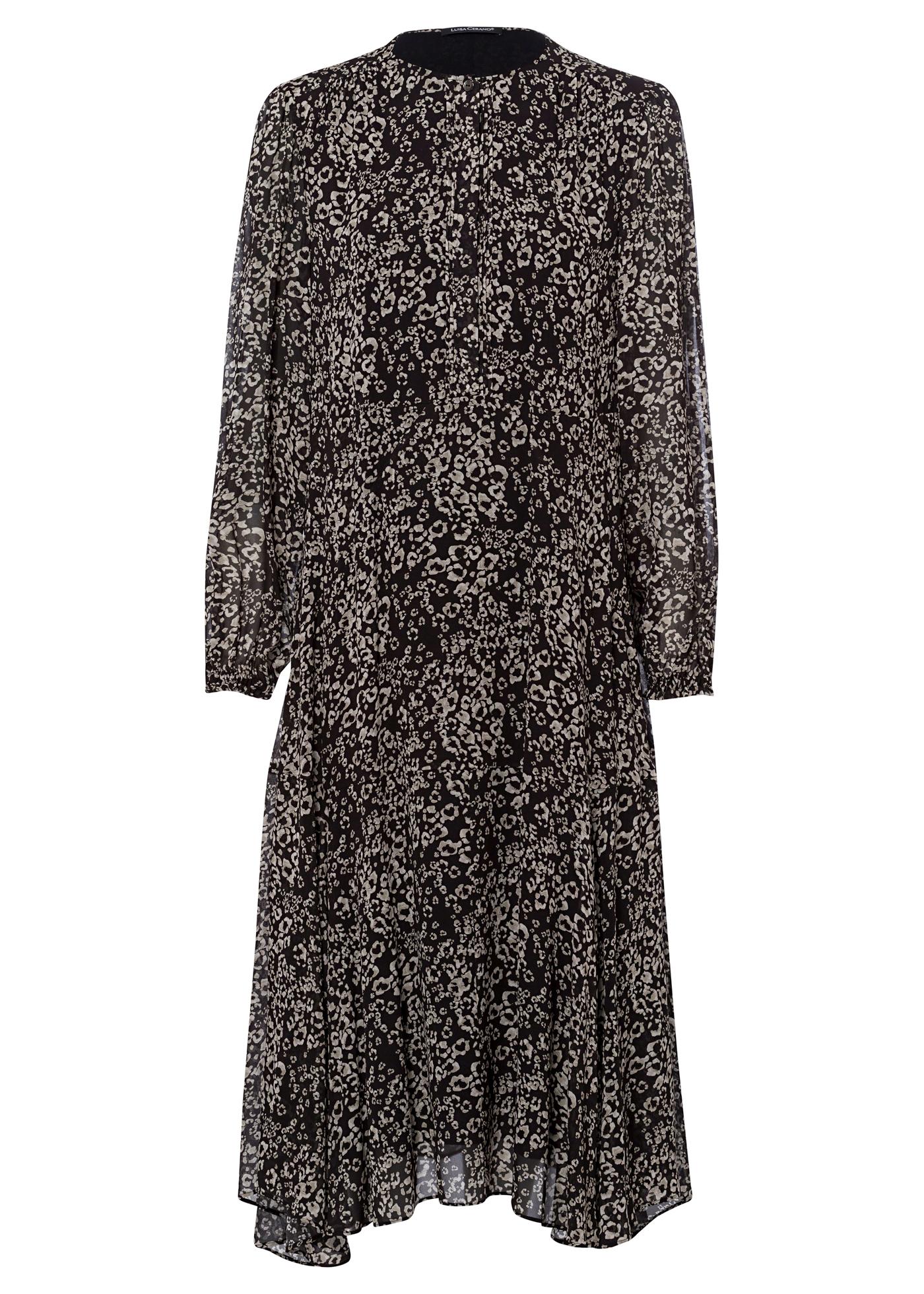 Midi-Kleid mit Animal-Print image number 0