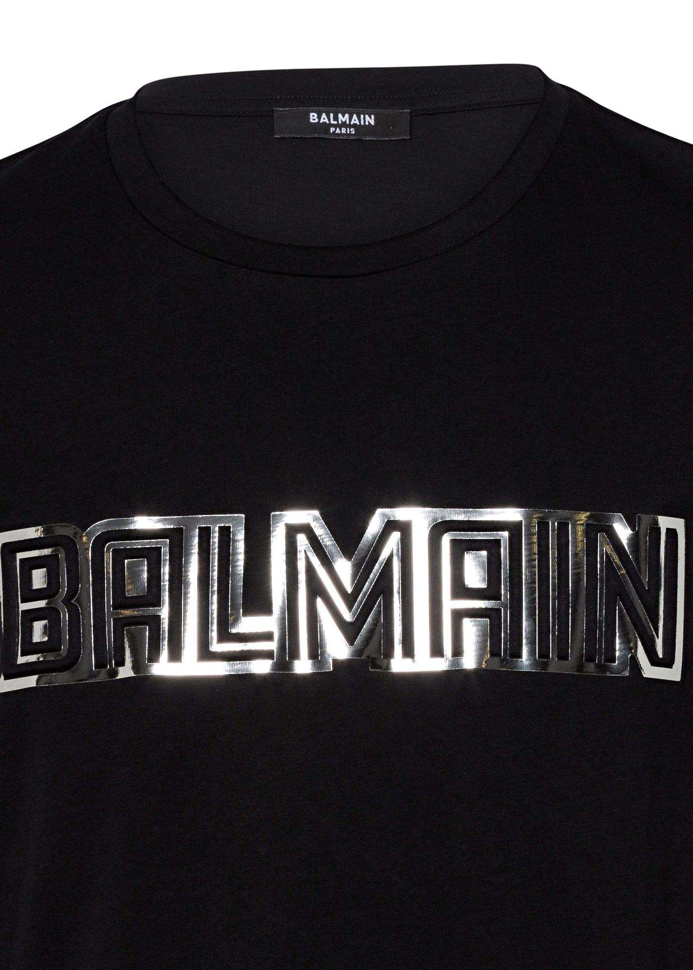 METTALIC BALMAIN EMBOSSED T-SHIRT image number 2