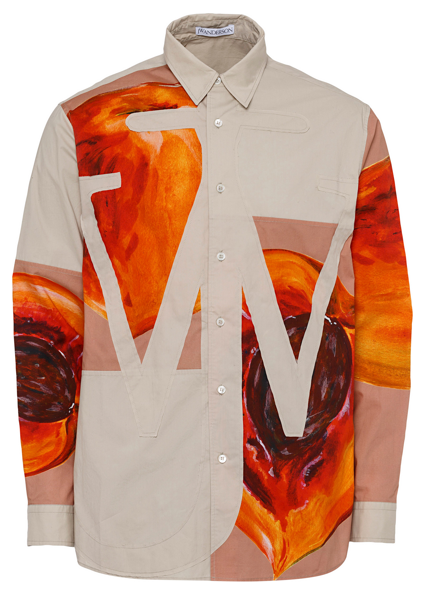 VEGGIE FRUIT RELAXED ANCHOR APPLIQUE SHIRT image number 0