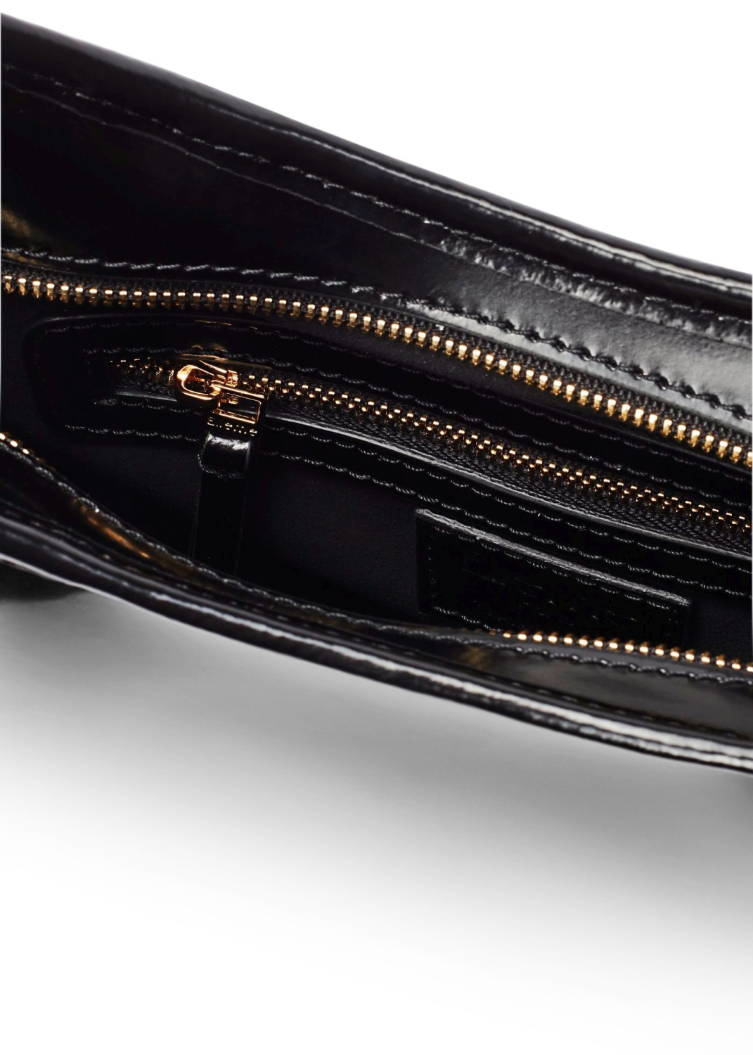 LARGE DIMPLE LEATHER PATENT BLACK OS image number 3