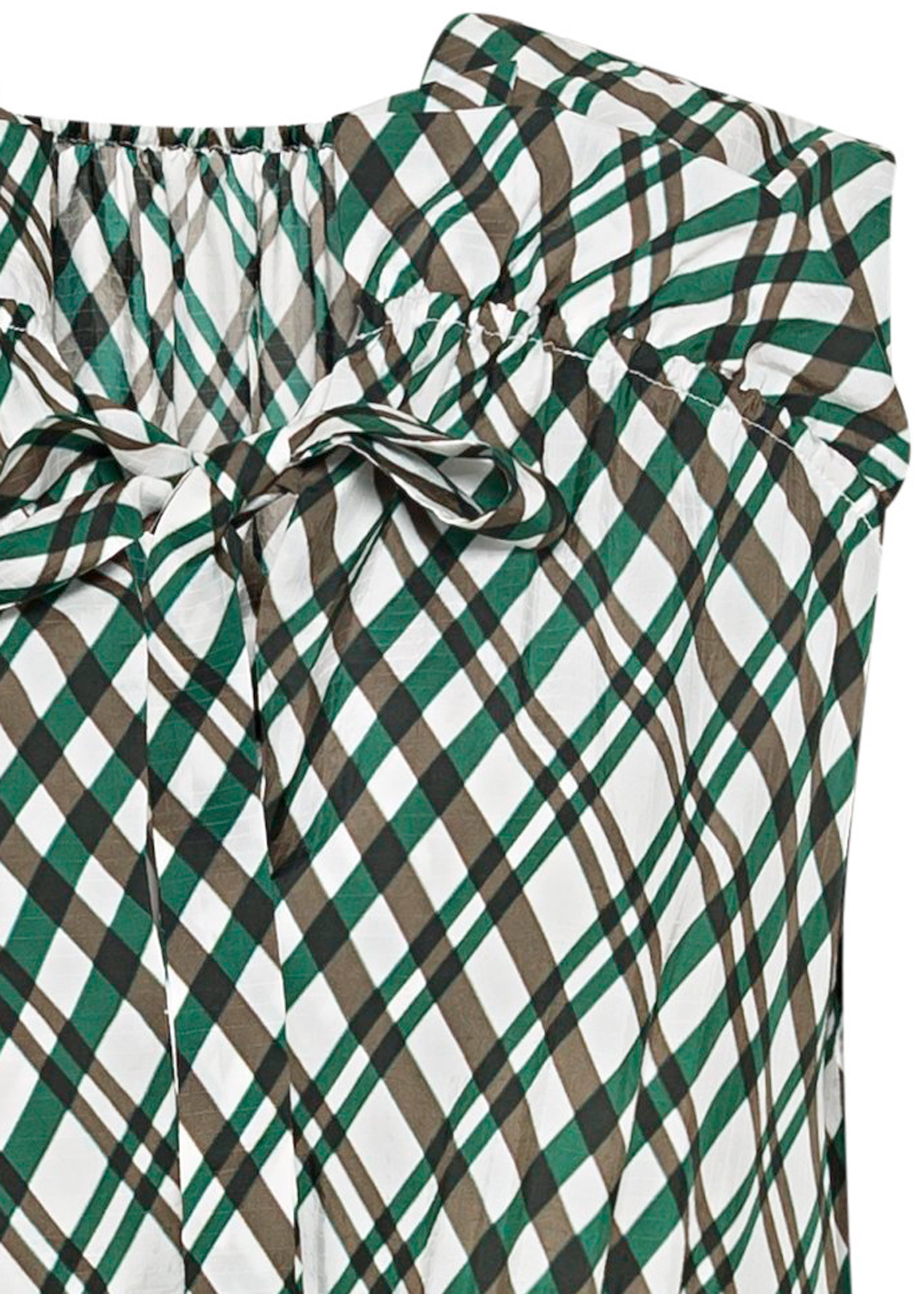 SHORTSLEEVE DRESS WITH GATHERING AND RUFFLE DETAIL image number 2