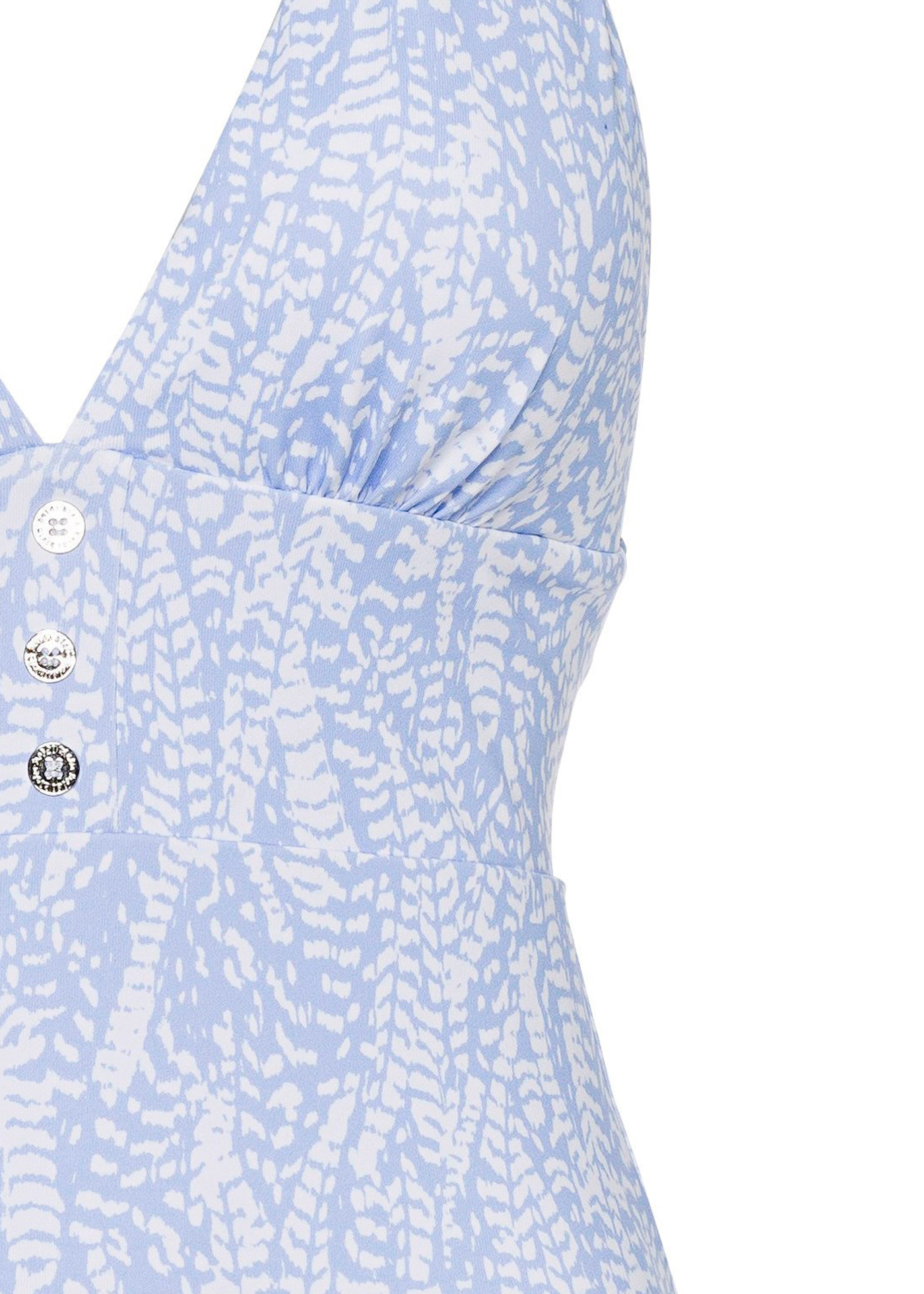 Button Halter One Piece image number 2