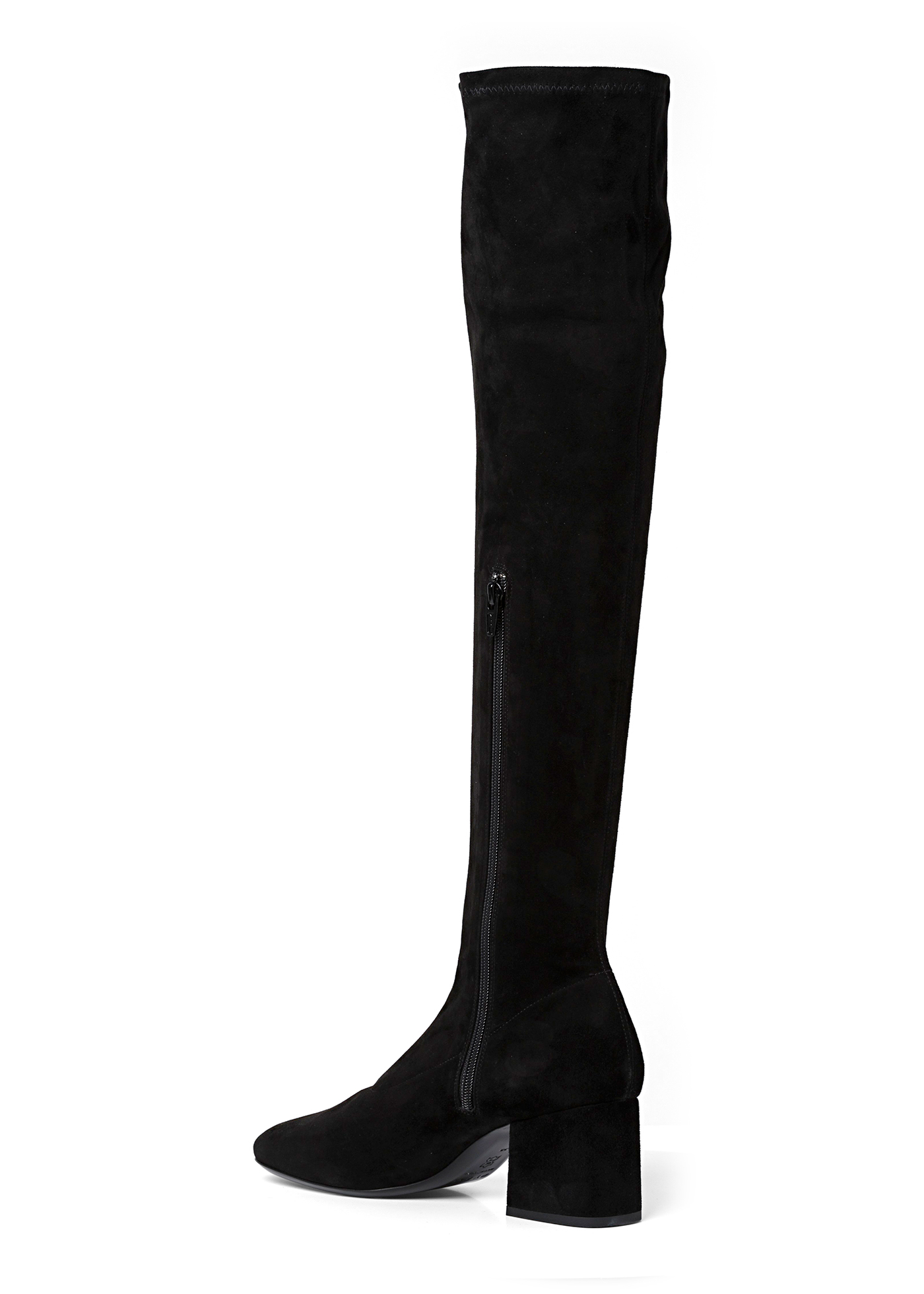 CARLOS 42 BLACK STRETCH SUEDE LEATHER image number 2