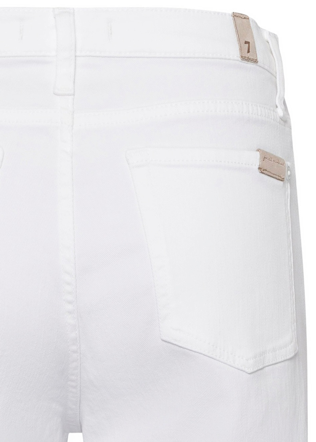 CROPPED ALEXA Left Hand Pure White with Raw Cut Frayed image number 3