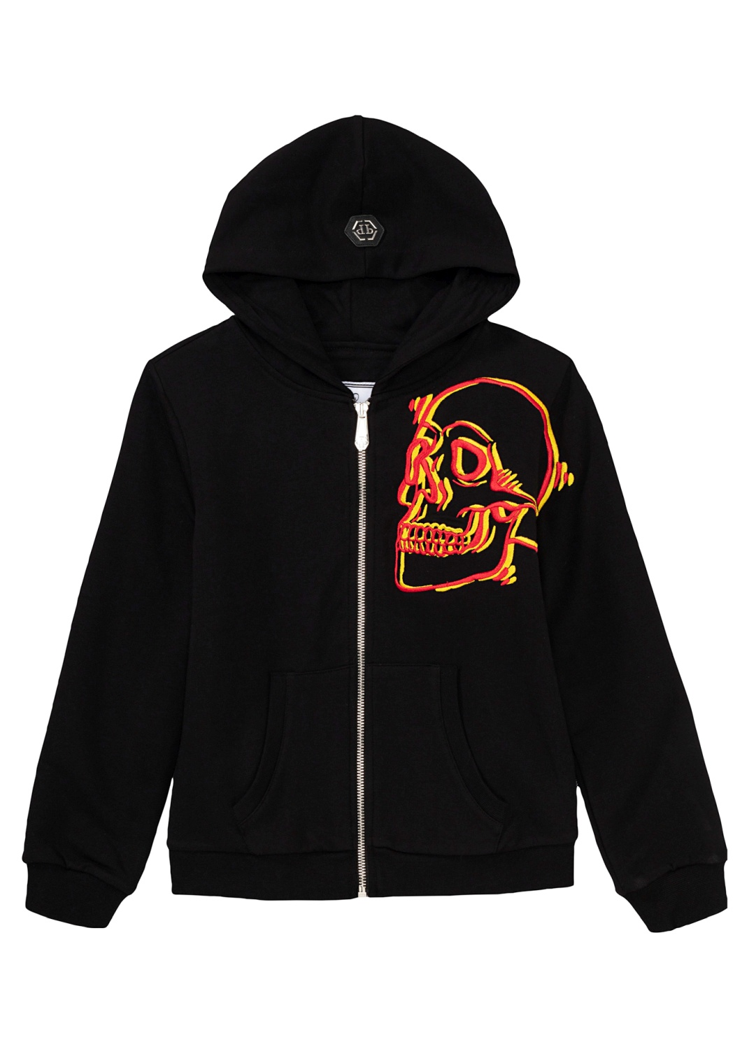 New Embroided Skull Zip jacket image number 0