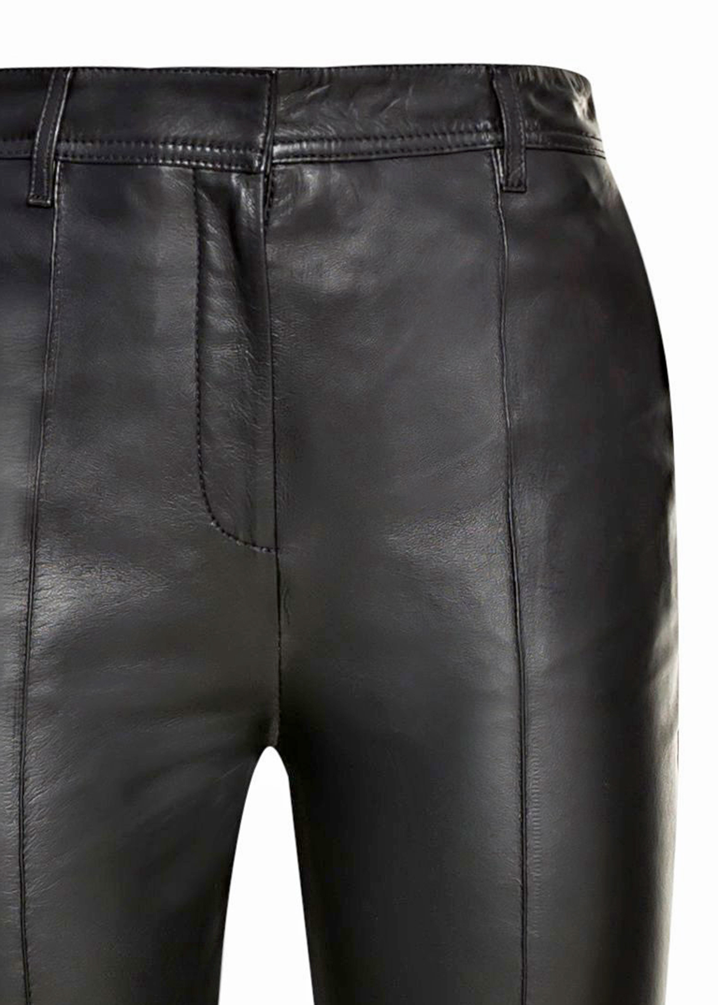 STRAIGHT LEG LEATHER TROUSER image number 2