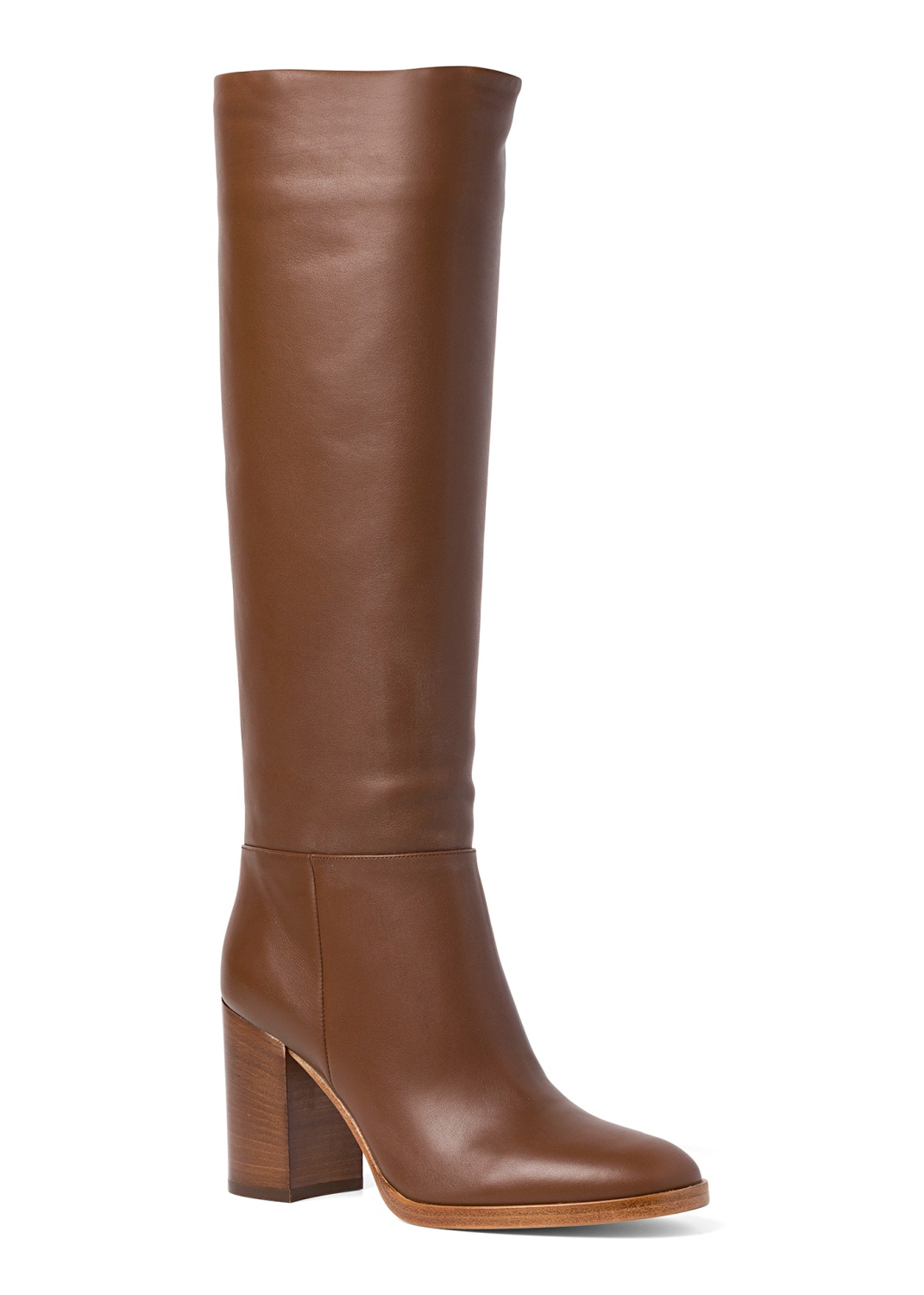 6_High Boot Nappa Stacked Heel image number 1
