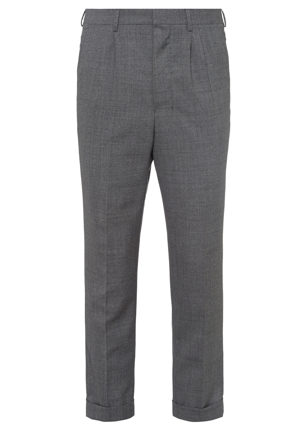 MEN PLEATED CARROT FIT TROUSERS image number 0