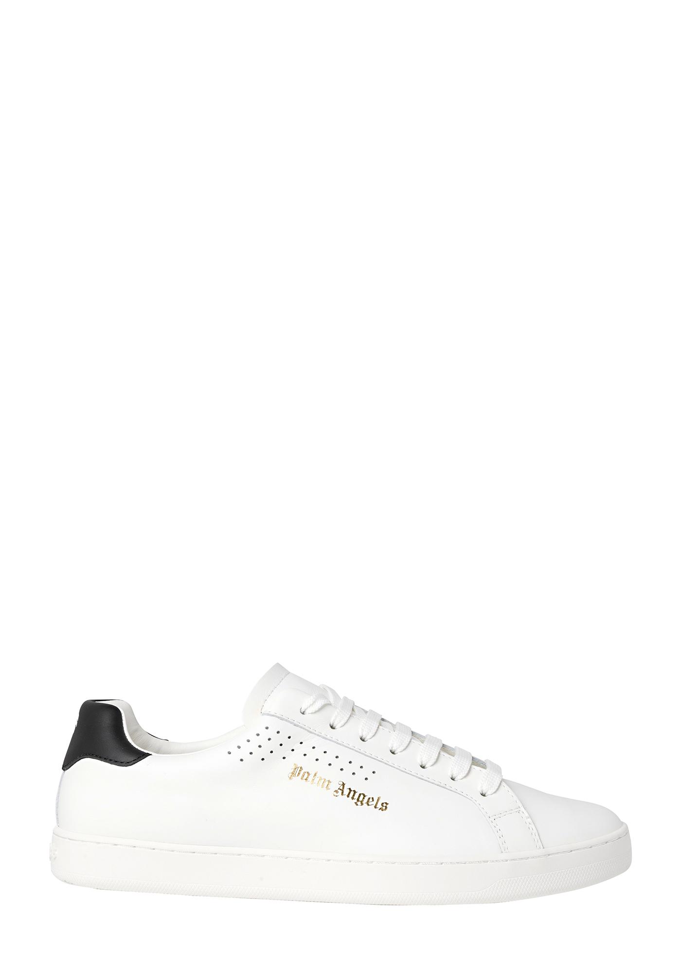 NEW TENNIS SNEAKERS CALF LEA WHITE BLACK image number 0