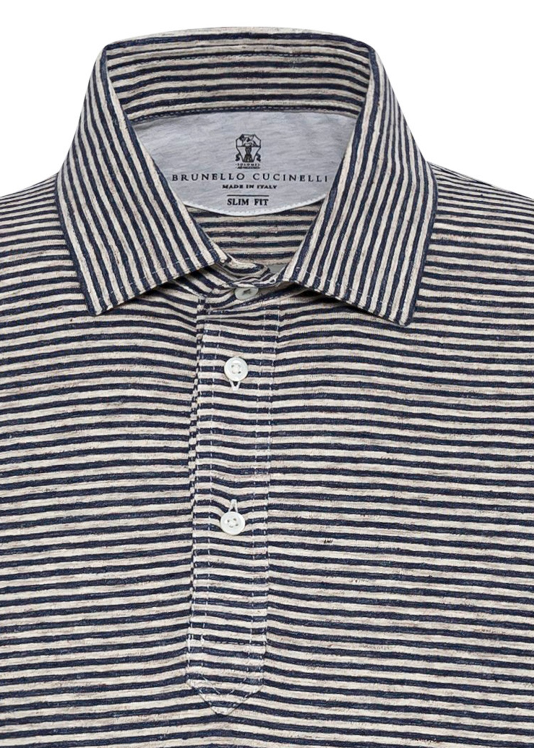 Linen Stretch Stiped Polo image number 2