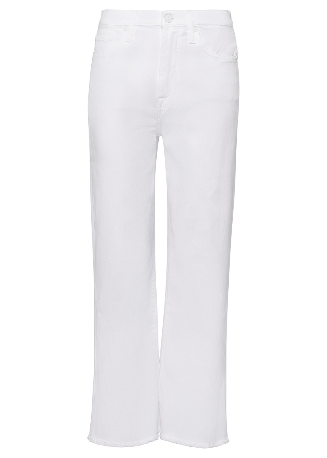 CROPPED ALEXA Left Hand Pure White with Raw Cut Frayed image number 0