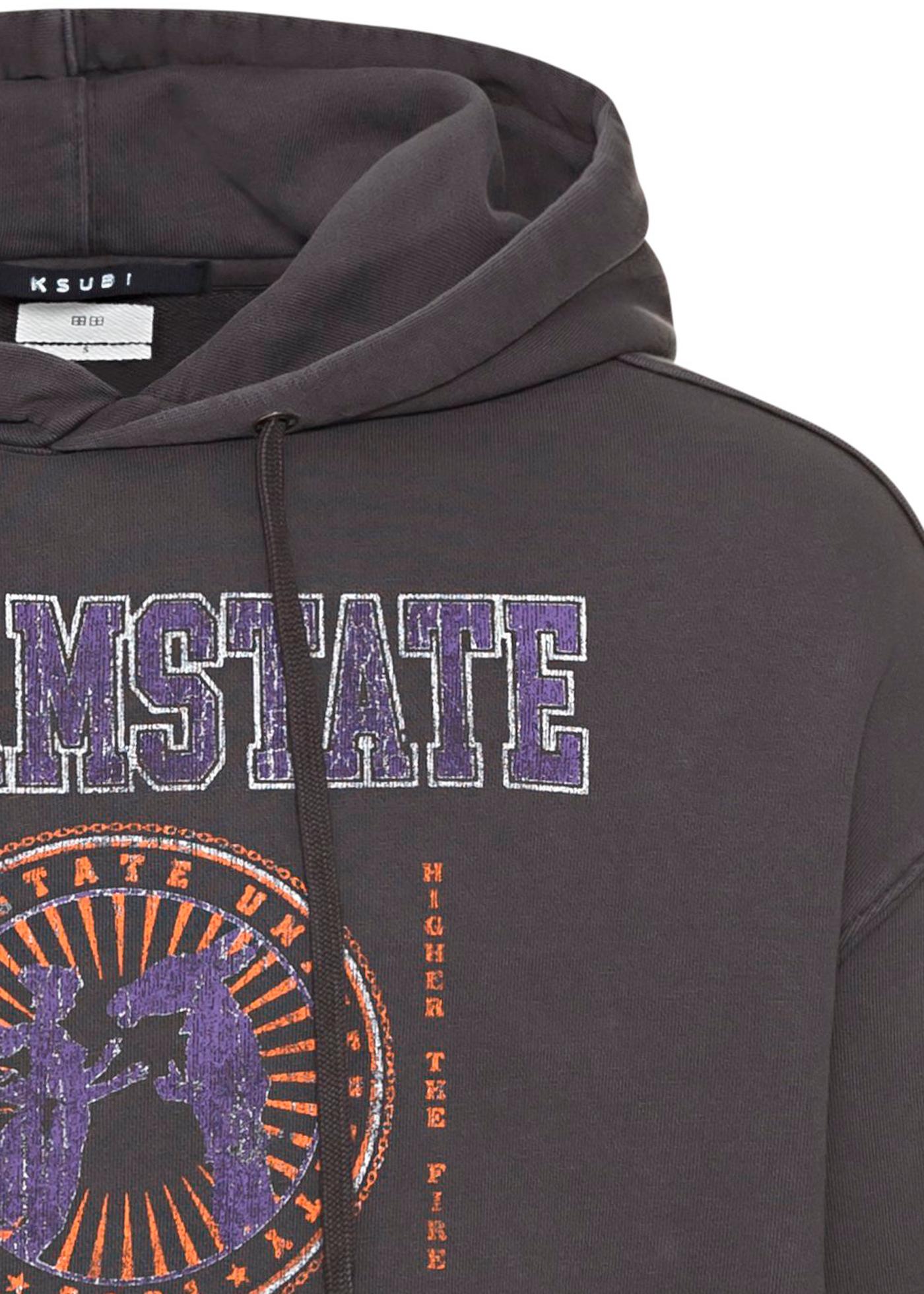 university biggie hoodie faded black image number 2