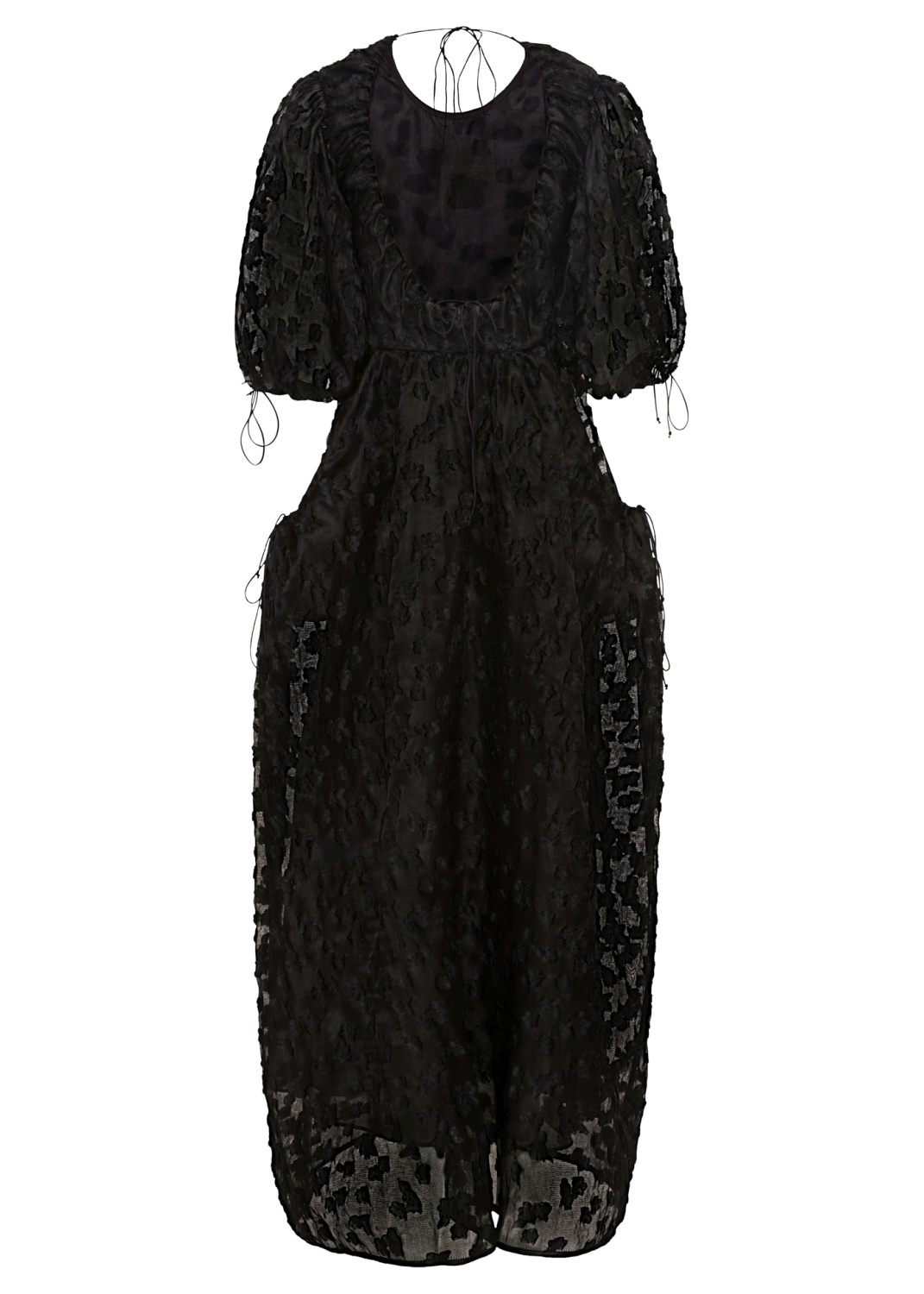 PANELLED GOWN WITH OPEN BACK, Schwarz, large image number 1