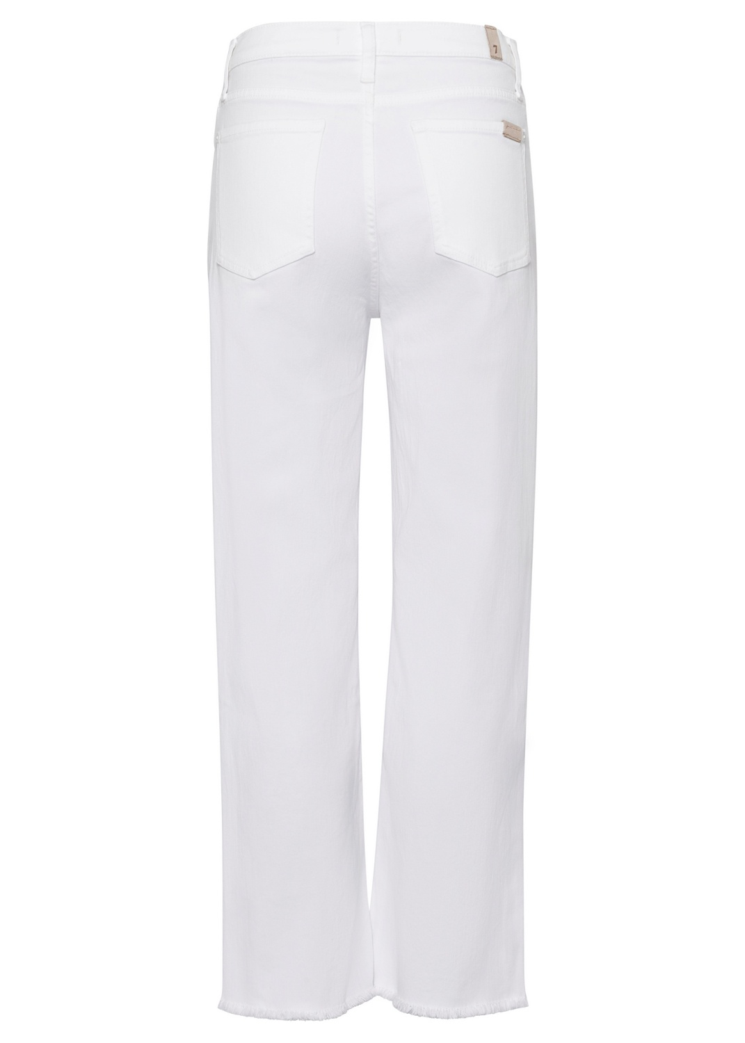 CROPPED ALEXA Left Hand Pure White with Raw Cut Frayed image number 1