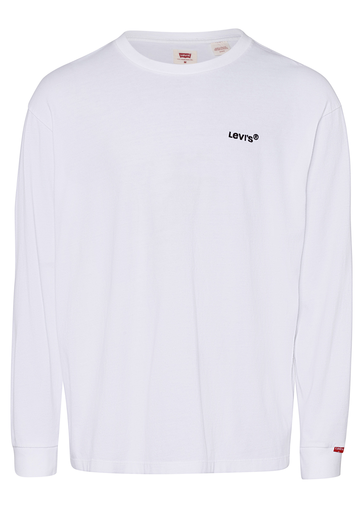 LS RED TAB TEE WHITE + image number 0