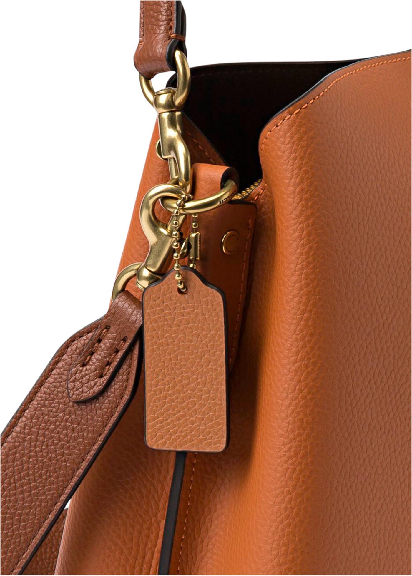 colorblock leather willow shoulder bag image number 2