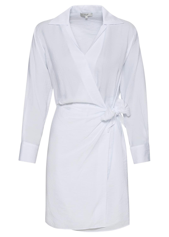 L/S WRAP SHIRT DRESS image number 0