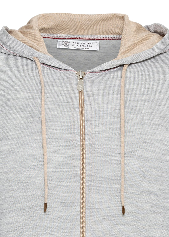 Zip Hoodie Wool Cash Lightweight contrast stitch image number 2