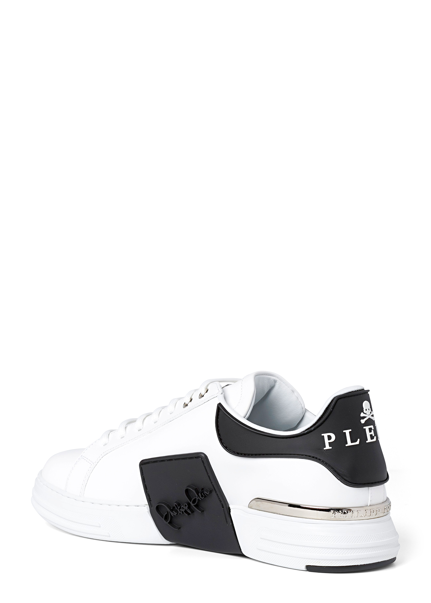 Rubber Leather PHANTOM KICK$ Lo-Top Sneakers Iconic Plein image number 2