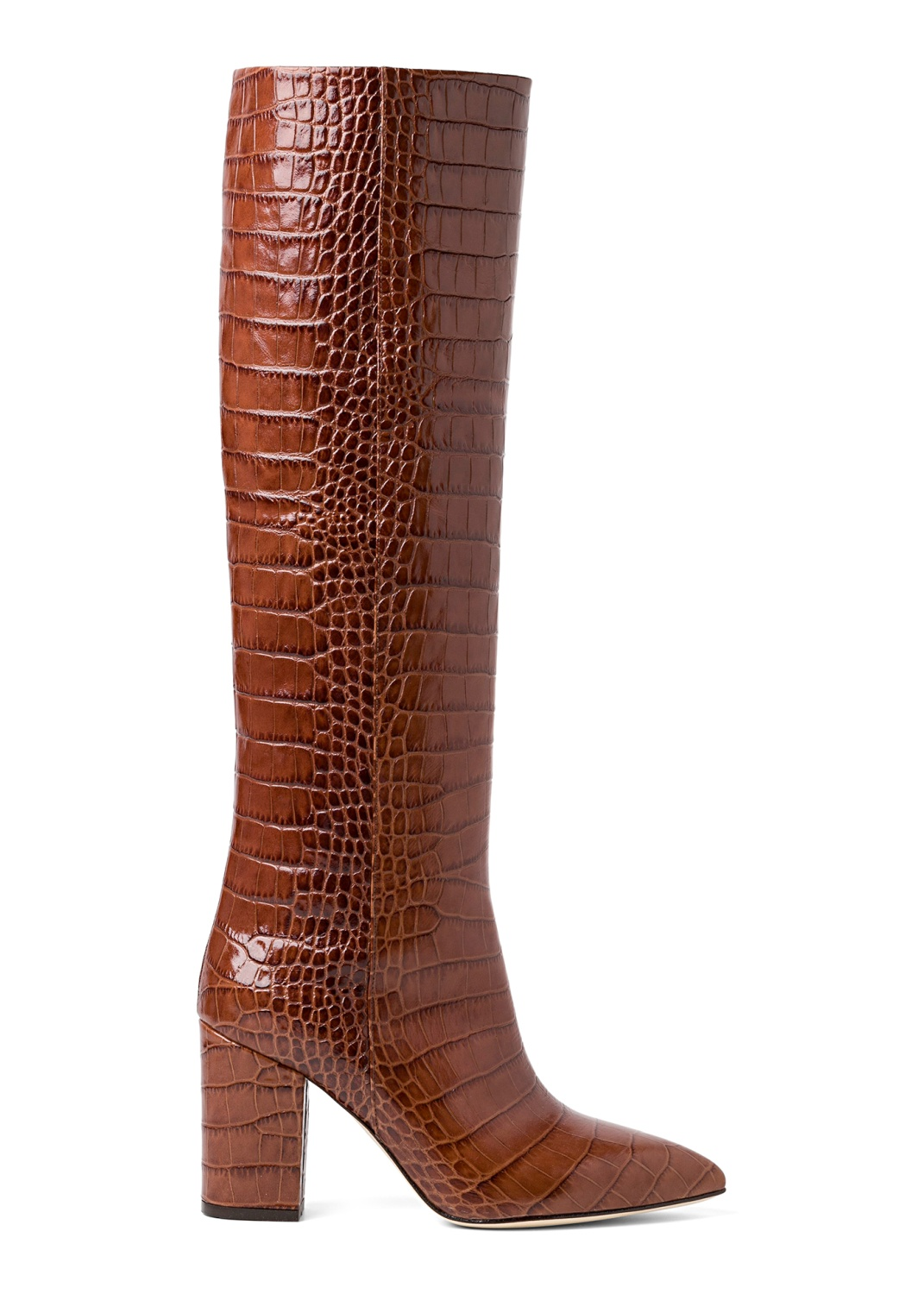 Tall Boot Snake Print 80mm image number 0