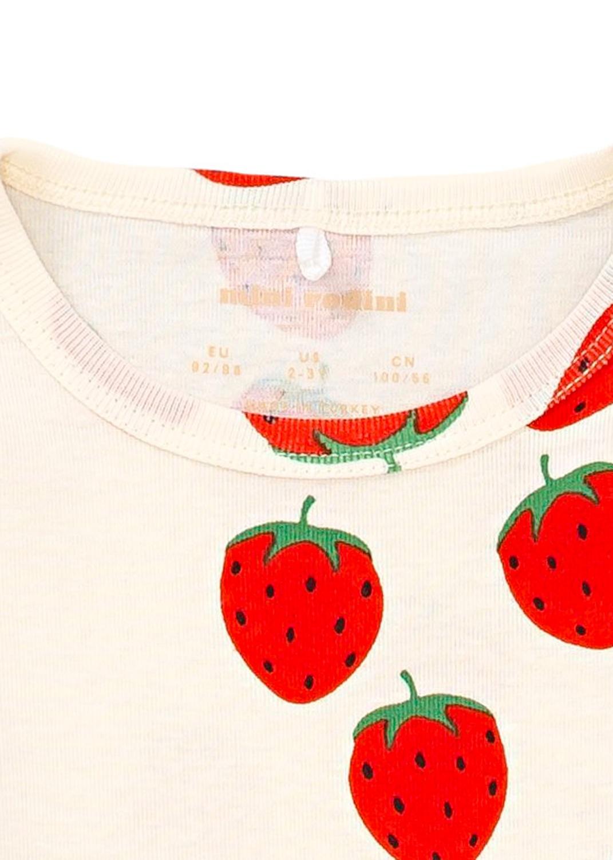 Strawberry aop ls dress image number 2