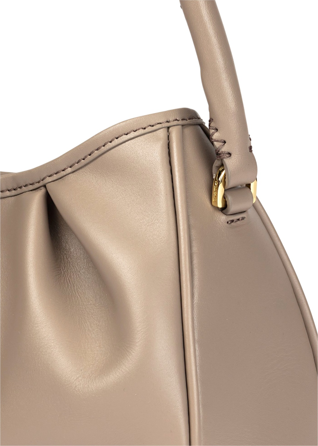 Dimple Leather Baguette Bag image number 2