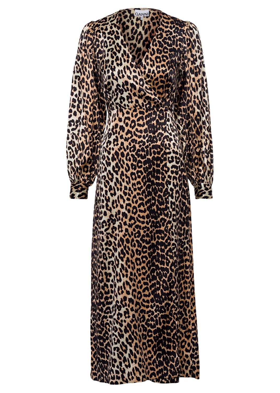 Wrap Dress Silk Stretch Satin image number 0