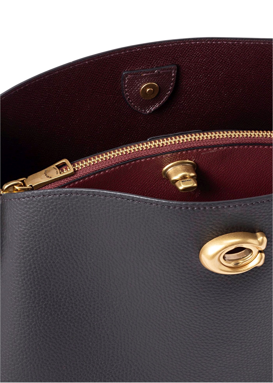 polished pebble leather willow shoulder bag image number 3