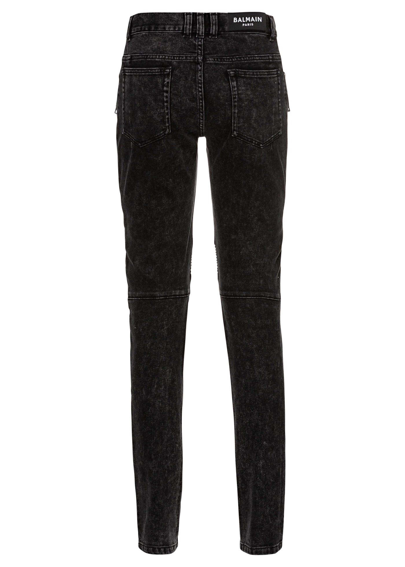RIBBED SLIM JEANS-BLEACHED image number 1