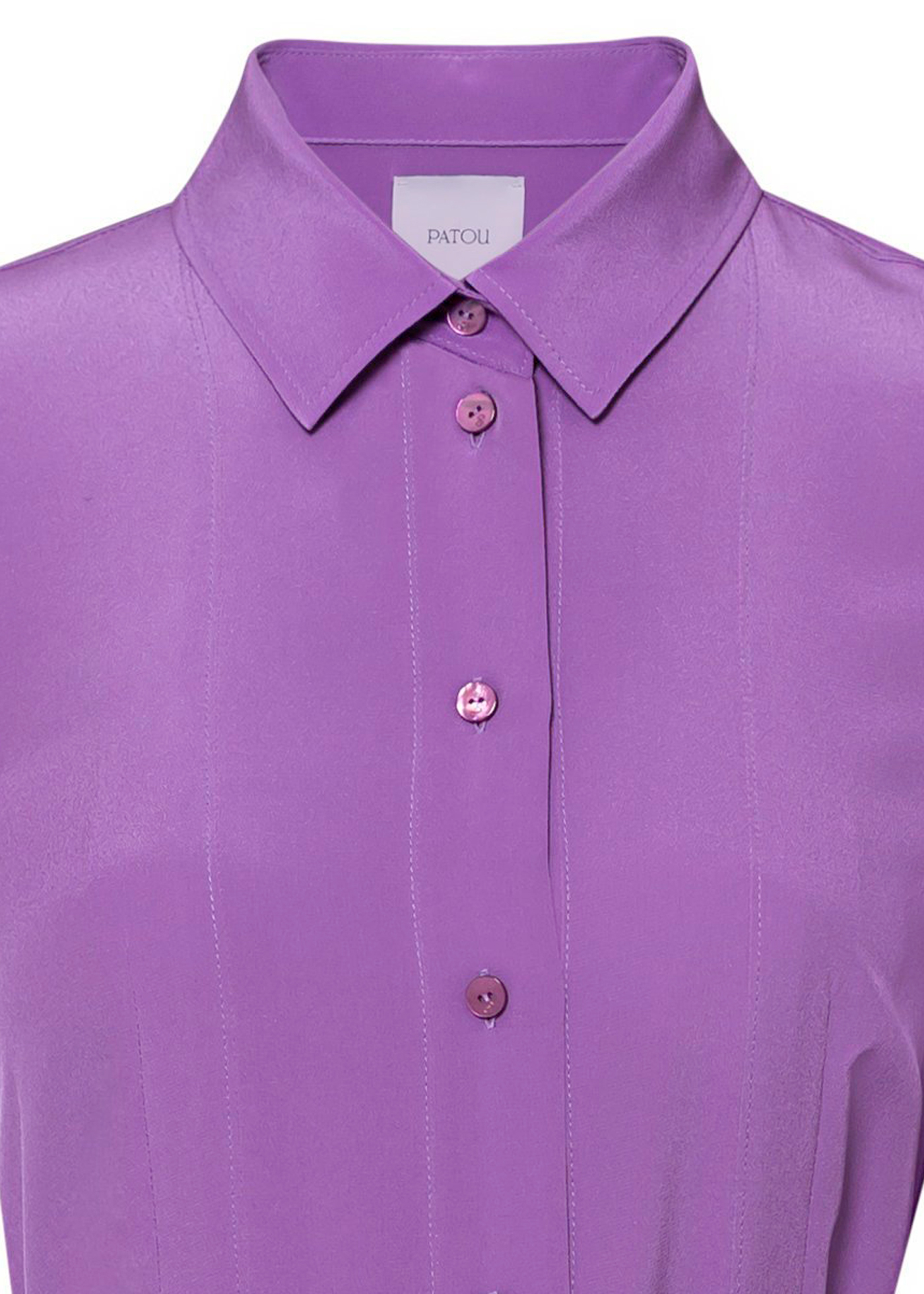 PLEATED SILK SHIRT DRESS image number 2