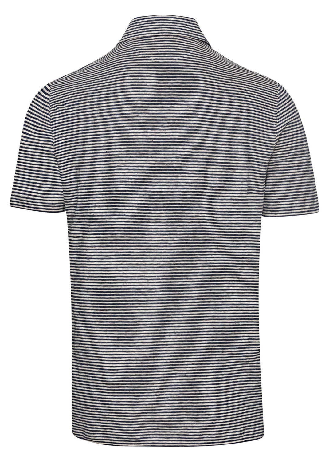Linen Stretch Stiped Polo image number 1