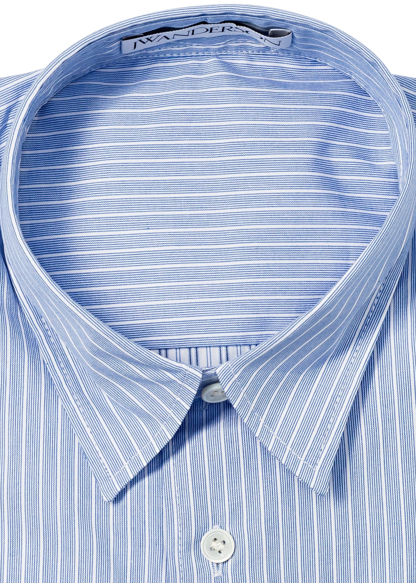 RELAXED STRIPE PATCHWORK SHIRT image number 1