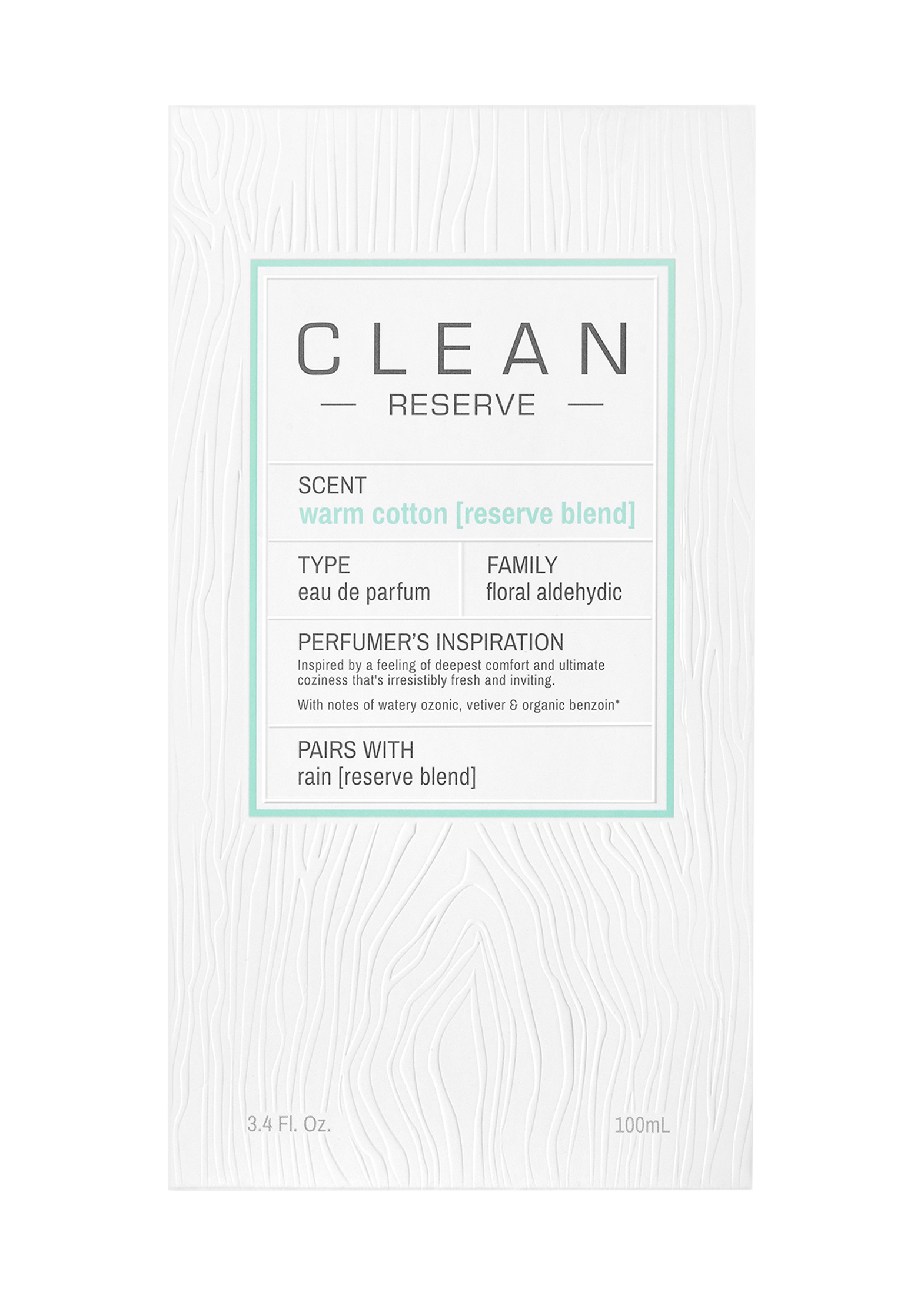 Clean, Blend Warm Cotton EdP 100ml image number 1