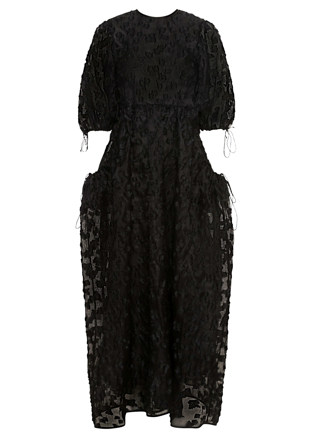 PANELLED GOWN WITH OPEN BACK, Schwarz, large image number 0