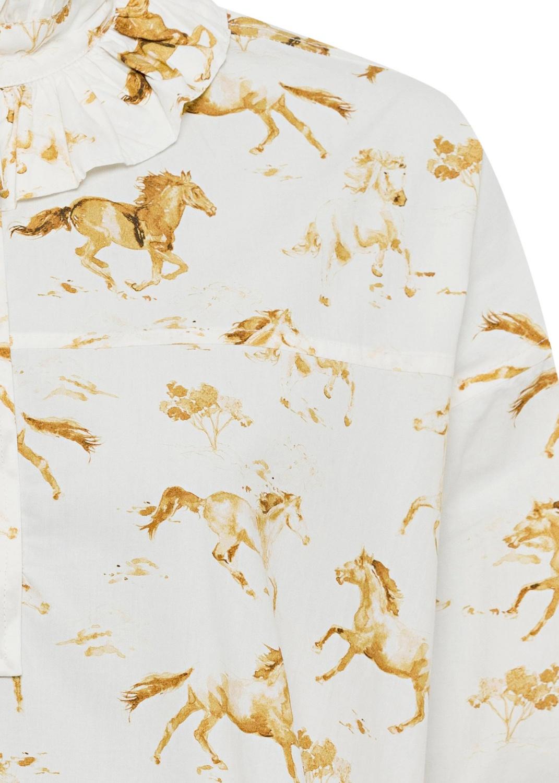 Printed Cotton Poplin Dress image number 2