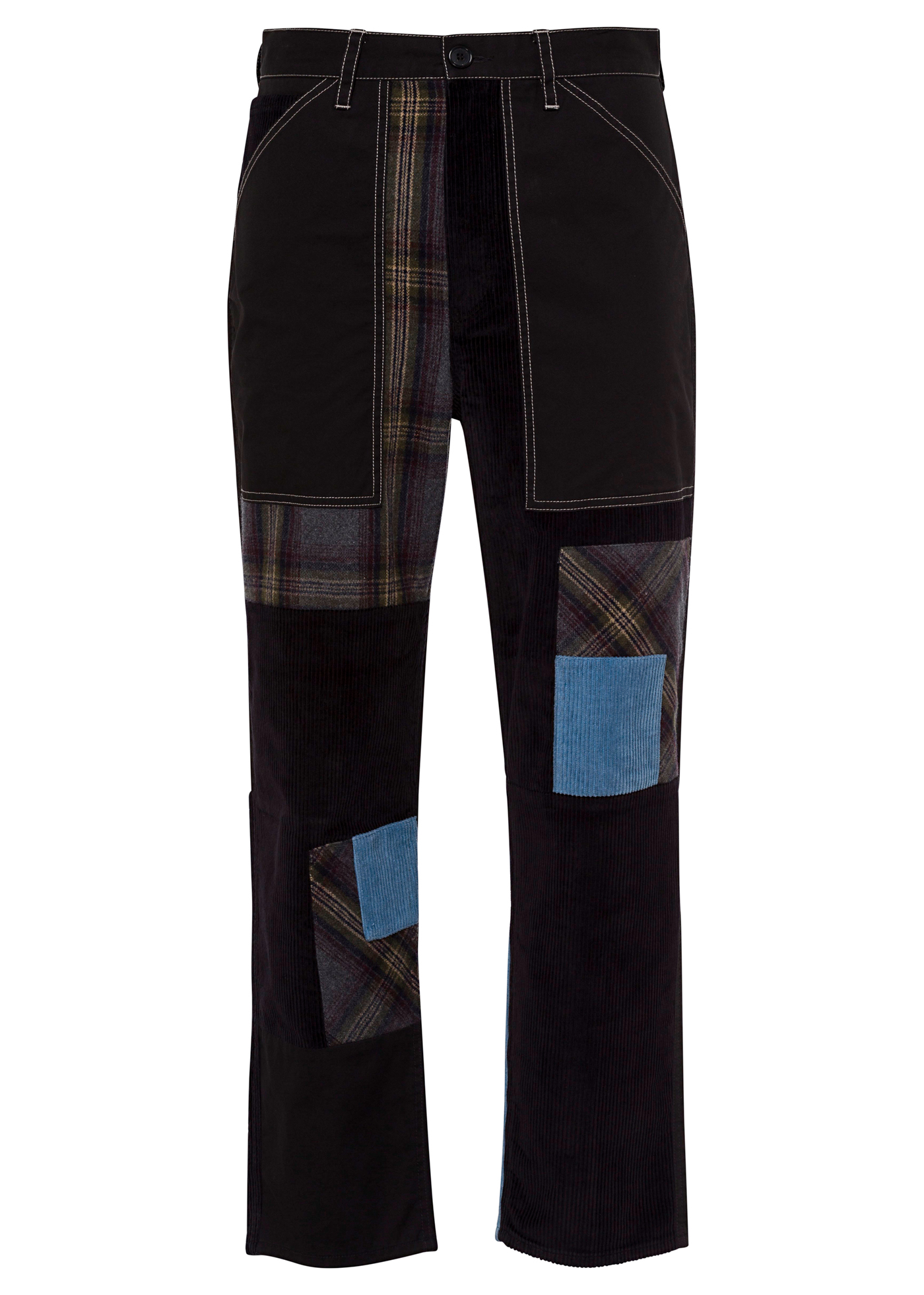 CROPPED PATCHWORK FATIGUE TROUSERS image number 0